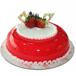 Strawberry cool cake (eggless)