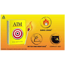 ITC AIM YELLOW MATCH BOX