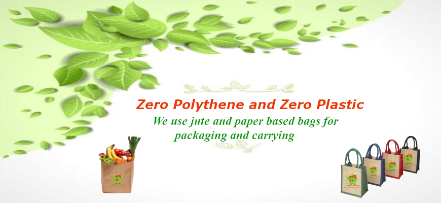 Zero polythene and Zero plastic home delivery - VizagGrocers.com - Buy fruits , Vegetables, Groceries, Cakes , bakes, sweets online
